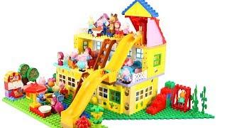 Peppa Pig Blocks Mega House Construction Sets - Lego Duplo House Creations Toys For Kids #9