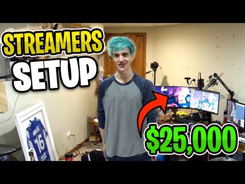 Famous fortnite streamers show their gaming and streaming