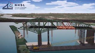Deconstruction methods of the original Champlain Bridge