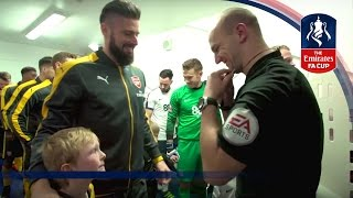 Exclusive Tunnel Cam - Preston 1-2 Arsenal (Emirates FA Cup 2016/17) R3 | Inside Access