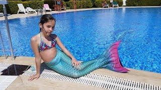 Обзор и тестирование Хвоста  русалки (для плаванья в бассейне, по просьбе дочки :)