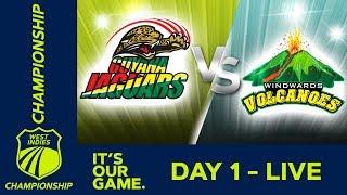 Guyana v Windwards - Day 1 | West Indies Championship | Thursday 10th January 2019