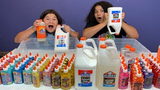 MIXING ALL OUR ELMER'S GLUE - GIANT ELMER'S SLIME SMOOTHIE