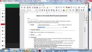 Fillable exlusive agreement
