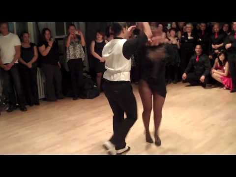 Melanie Torres' brother's salsa performance @ Dance on 2 Holiday Social: