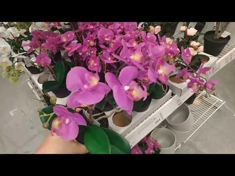 IKEA искусственные цветы/растения в горшочках