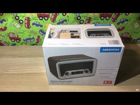 Medion E66333 - MEDION® LIFE® E66333 Retro Uhrenradio mit Bluetooth Funktion