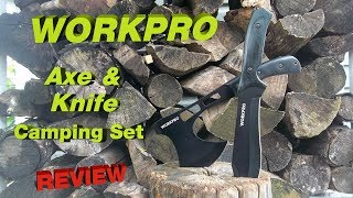 WORKPRO TOOLS Axe And Knife Camping Set Review
