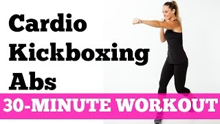 Abs Cardio Workout: 30-Minute Kickboxing Cardio Abs Full Length No Equipment by jessicasmithtv