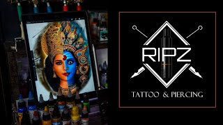 A Cover Up Piece With Hindu Mythological Gods @ Ripz Tattoos And Piercings