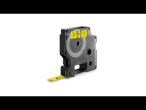 DYMO LabelManager D1 labels, 9mm x 7m, black on yellow, 40918, S0720730