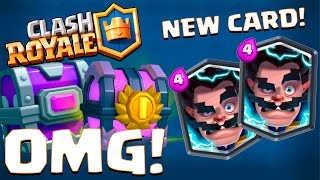 NEW LEGENDARY APPEARED ELECTRO WIZARD :: Clash Royale :: EPIC CHEST & GRAND CHEST OPENING