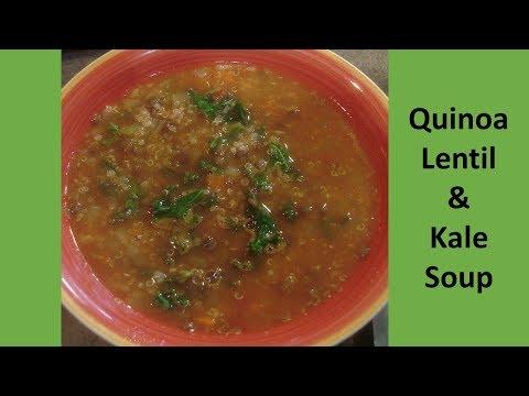 Download Quinoa Lentil & Kale Soup // Oil Free // Like Panera Bread Soup HD Mp4 3GP Video and MP3
