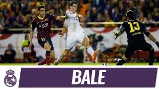 Gareth Bale's incredible goal against Barcelona   Copa del Rey Final 2014