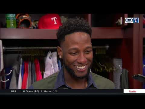 Jurickson Profar talks about hitting a home run on his first Father's Day as a dad