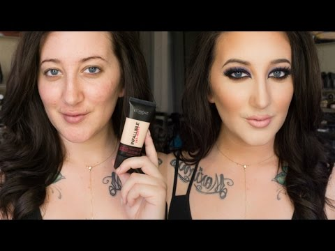 NEW L'Oreal Infallible Pro-Matte Foundation | 24 Hour Demo + Review | DRY SKIN