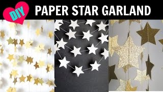 DIY Star Paper Garland Room Decor