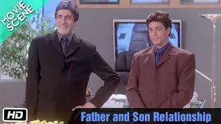 Father and Son Relationship - Movie Scene - Kabhi Khushi Kabhie Gham - Shahrukh Khan, Amitabh