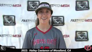2022 Hailey Castanon Lefty Outfield Softball Skills Video - Game Day