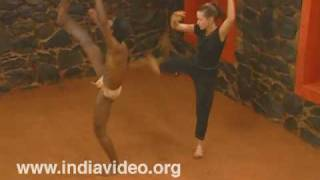 A Kalaripayattu disciple from abroad