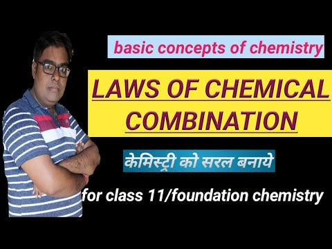 Laws of chemical  combination / basic concepts of chemistry / physical chemistry /