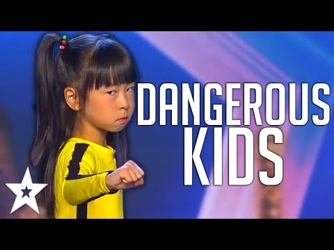 CRAZY KIDS | Dangerous STUNT Auditions On America, Spain's Got Talent And MORE! | Got Talent Global (видео)