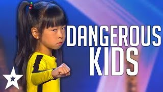 CRAZY KIDS | Dangerous STUNT Auditions On America, Spain's Got Talent And MORE! | Got Talent Global