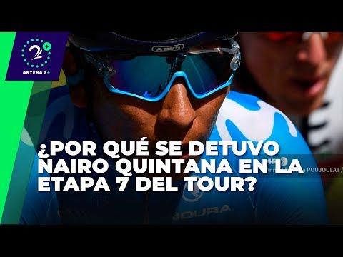 ¿Por que se detuvo Nairo Quintana en la etapa 7 del Tour de Francia?