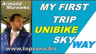 Armand Murnieks, my first trip to unibike SkyWay. New Transportation Investments.