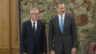 S.M. el Rey recibe al presidente de Austria, Alexander van der Bellen