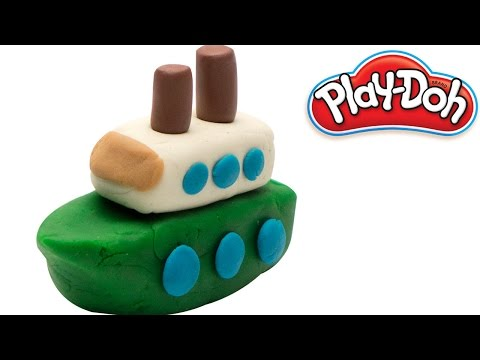 Play Doh SHIP | Learn how to build a Ship using Clay Modelling | Kids Learning Videos by PoPoPlay
