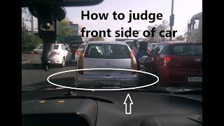 Car Bonnet Judgement Tips and Tricks   How to judge front side of car?