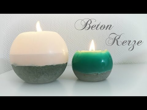 Beton Kerze * DIY * Concrete Candle [eng sub]