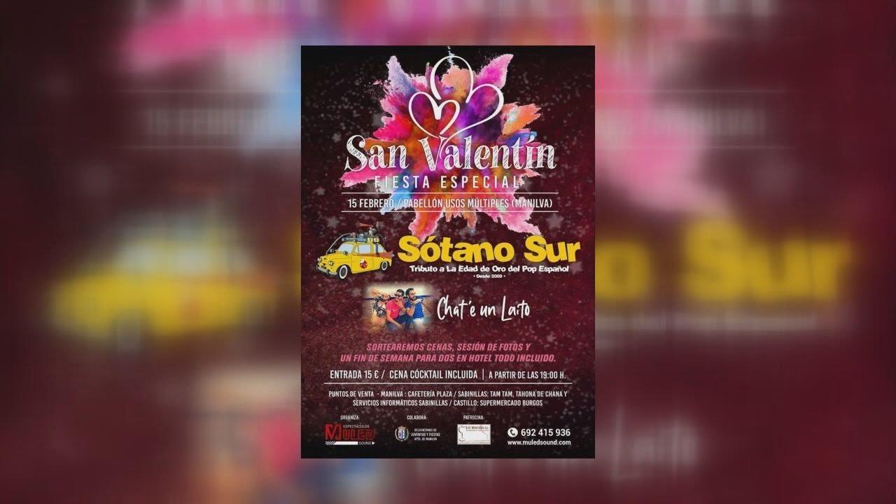 LA FIESTA ESPECIAL SAN VALENTÍN CONTARÁ CON LOS GRUPOS MUSICALES SÓTANO SUR Y CHAT´E UN LAITO