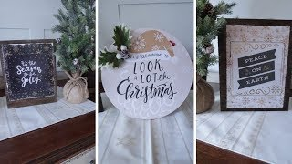 DIY: 3 Wooden Christmas Signs Under $10.00 2018