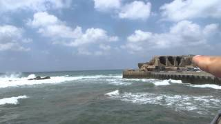 preview picture of video 'Akko (Acre) - the ruins of the Templar fortress (destroyed In 1291 by the Mamlukes)'