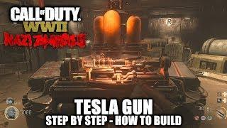 Call of Duty WW2 Zombies - Tesla Gun (How to Build) - Lightning Handler Achievement/Trophy