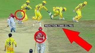 FASTEST RUNOUT: Thala DHONI's Quickest Reaction Behind Stumps!! | CSK Vs KXIP | IPL 2019