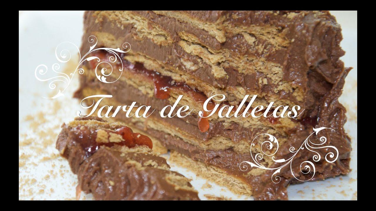 Tarta de Galletas y Chocolate para Cumpleaños | Tarta de Chocolate con Galletas | Tarta Sencilla