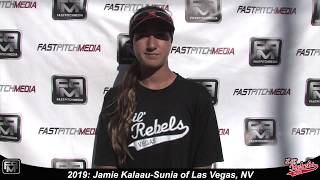 2019 Jamie Kalaau Sunia Outfield Softball Skills Video - Lil Rebels Las Vegas