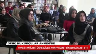 Hukuk fakültesi öğrencileri KONTV hizmet binasını gezdi
