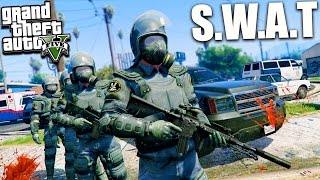 GTA 5 SWAT ROLEPLAY! Massive Raid & Arresting Trevor Philips Gameplay (GTA 5 Mods)