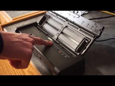 Epson ES-200 portable scanner demo