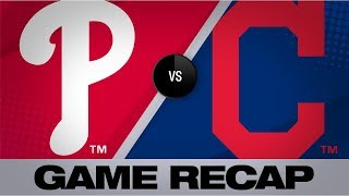 Mercado, Reyes, Puig mash in 10-1 win | Phillies-Indians Game Highlights 9/22/19