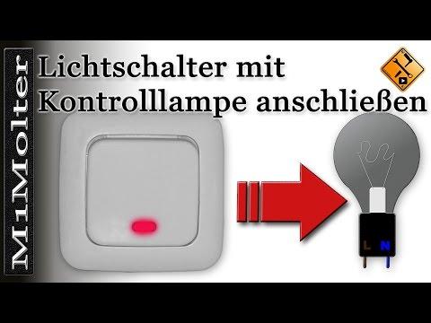 Lichtschalter mit Kontrolllampe anschließen - Teil 2