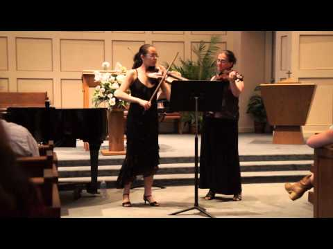 Bartok Duet with my private teacher Rachel Handman at my high school Senior Recital
