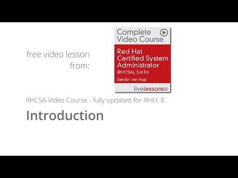 RHCSA RHEL 8 Video Course by Sander van Vugt - Introduction ...
