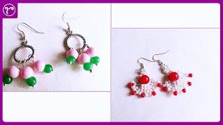 Beautiful Beads Earring Making Tutorial   Amazing And Easy Jewellery Making Tutorial   DIY Earrings