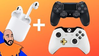 How to Use AirPods On PS4 & Xbox One!