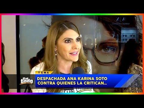 Ana Karina Soto responde a comentarios por su nuevo trabajo